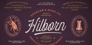 Spencer & Sons Hilborn fonts bundle.