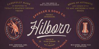 Spencer & Sons Hilborn fonts bundle.