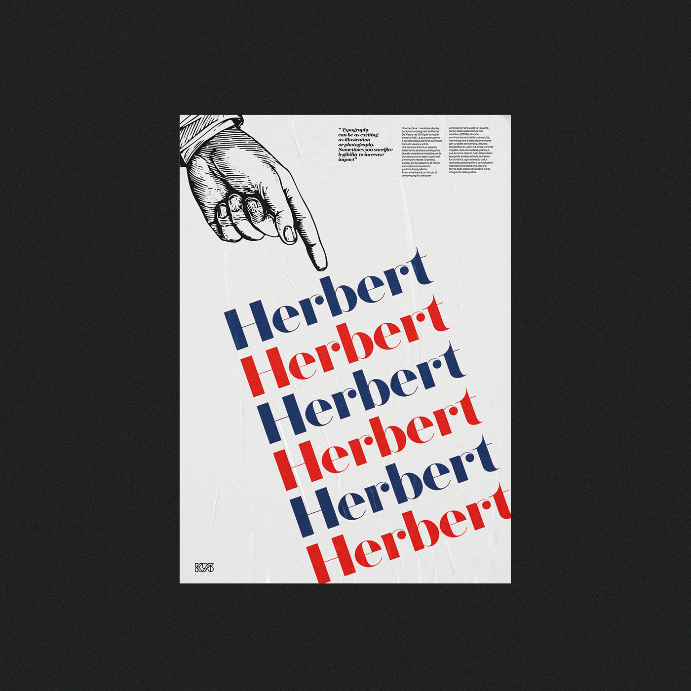 Herbert typeface - promotional posters by Studio K95