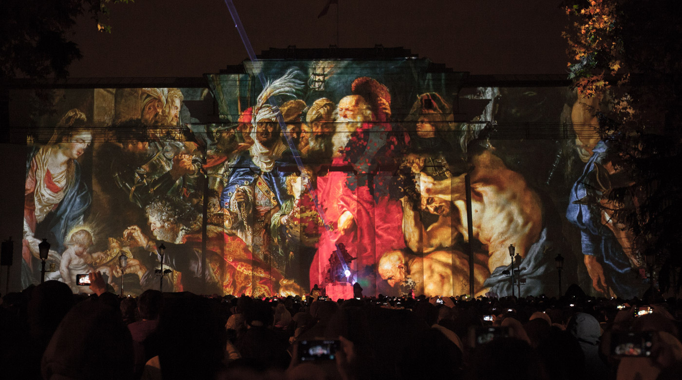 Rubens Kingdom - Prado Museum's Bicentenary - 3D Projection Mapping by Onionlab