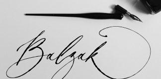 Balzak font - organic calligraphy by Gulya Ju of studio PeachCreme