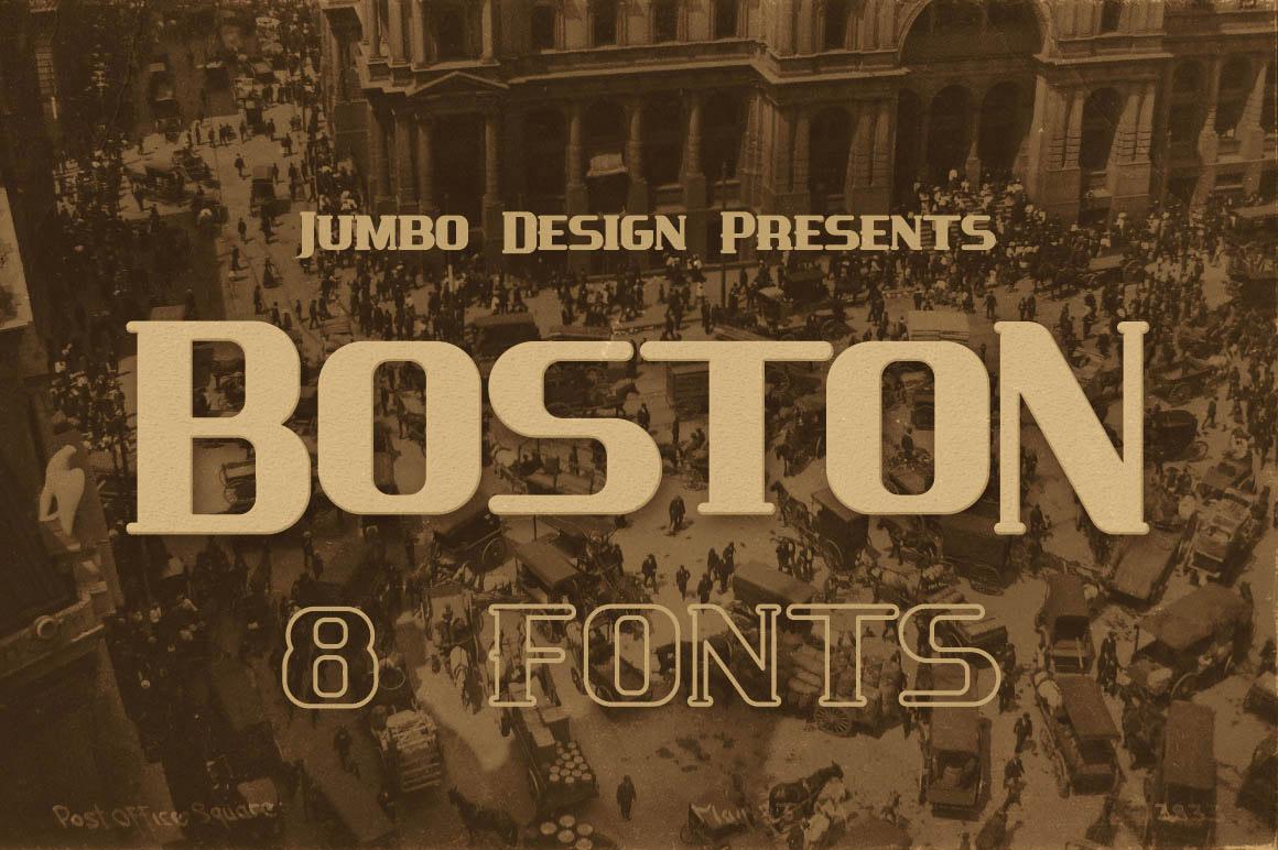 Boston vintage style font