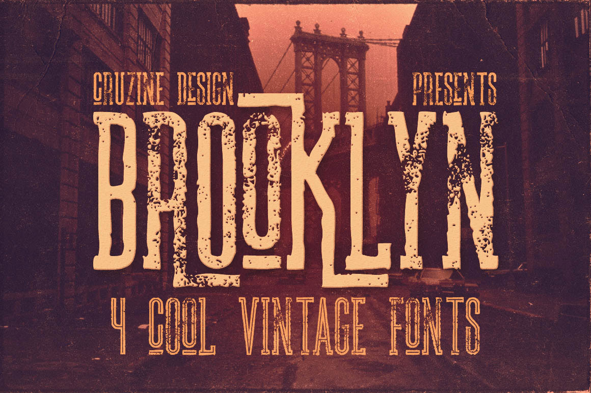 Brooklyn vintage fonts