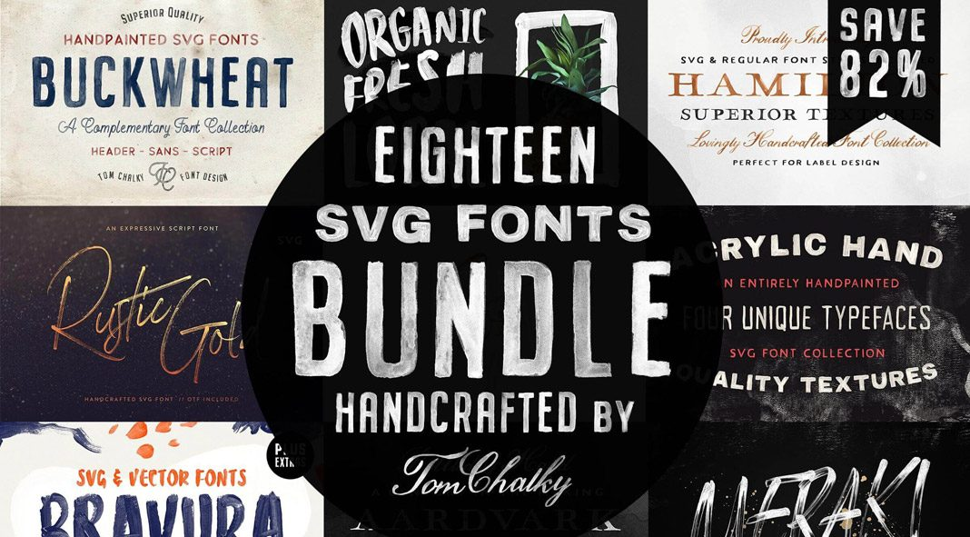 Handcrafted SVG Fonts Bundle