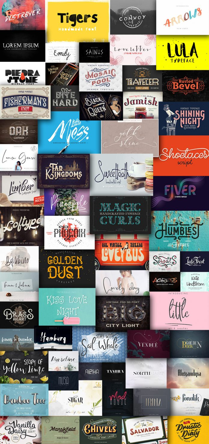 A Sensational Serif Fonts Bundle with Vintage Flair