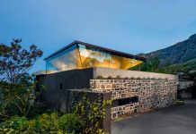 Kloof 119A, a Cape Town family home by SAOTA with inverted pyramid roof.