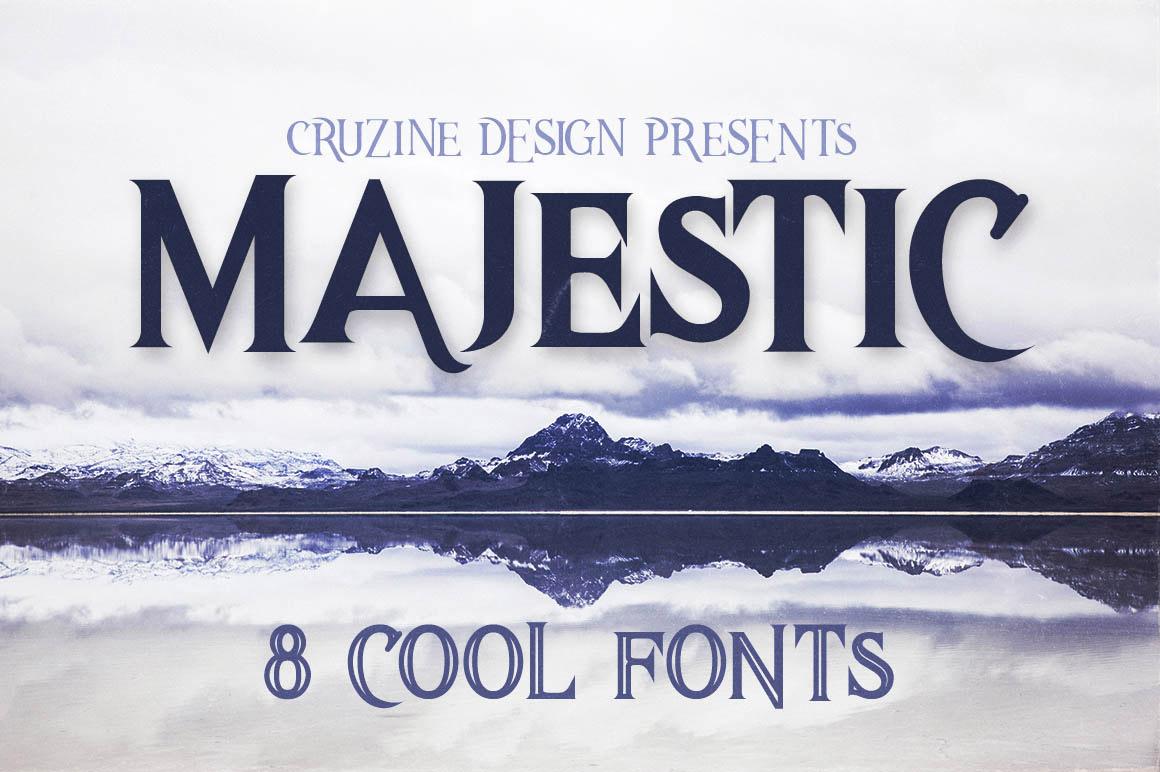 Majestic typeface