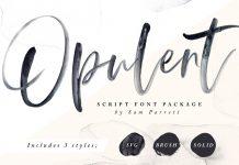 Opulent font + SVG style by Sam Parrett.