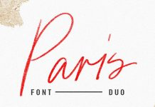 Paris font duo plus SVG style and extras