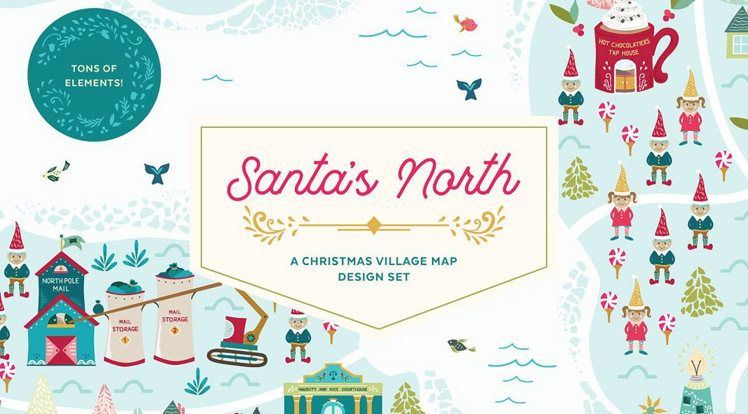 Santa's North Christmas village template