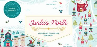 Santa's North Christmas village template