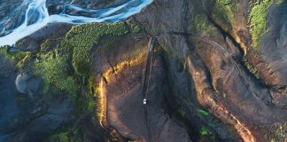 The Long Journey - drone travel photography by Kevin Krautgartner