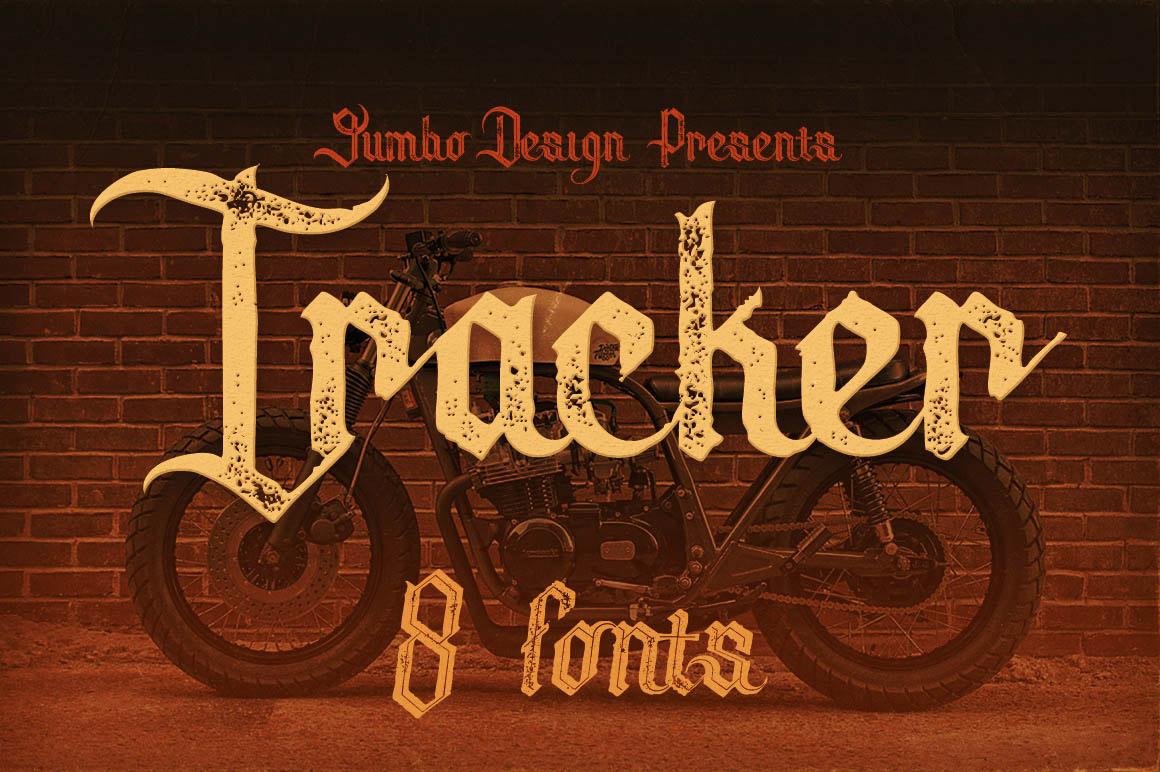 Tracker vintage fonts