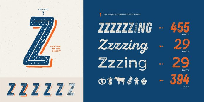 Zing Rust font family from Fontfabric