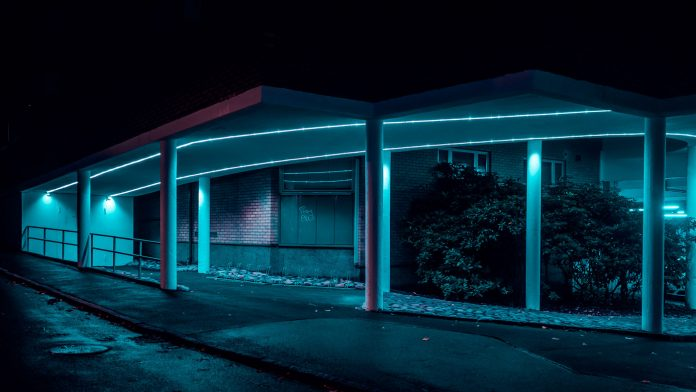 After Dark—urban and industrial photographs taken by John Drossos.