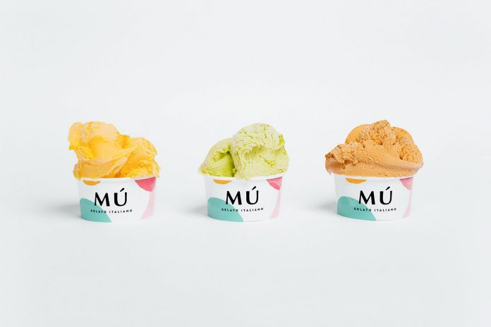 Mú ice cream shop branding by Savvy Agency
