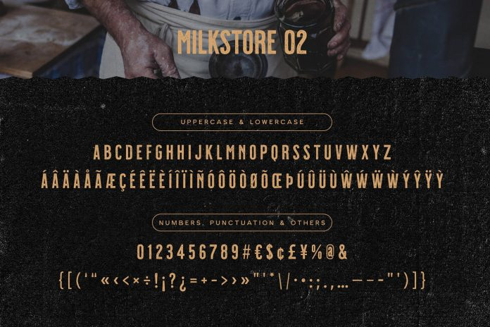 Milkstore retro fonts by Tobias Saul
