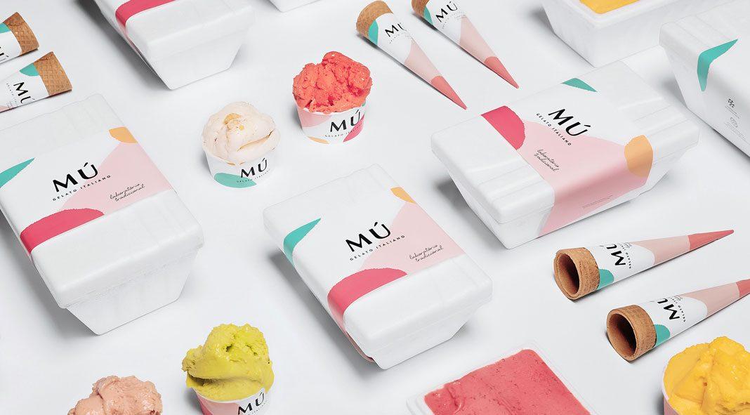 Mú ice cream shop branding by Savvy Agency