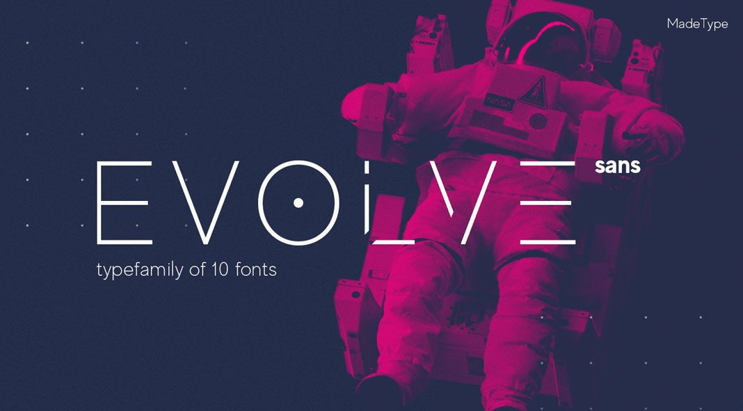 MADE Evolve Sans font family from MadeType