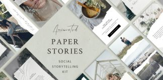 Paper Animated Instagram stories - social media kit from Sparrow & Snow