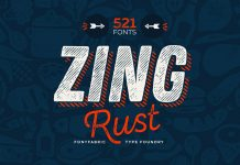 Zing Rust fonts from Fontfabric