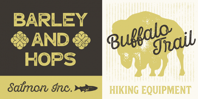 Hops And Barley font family from Fenotype