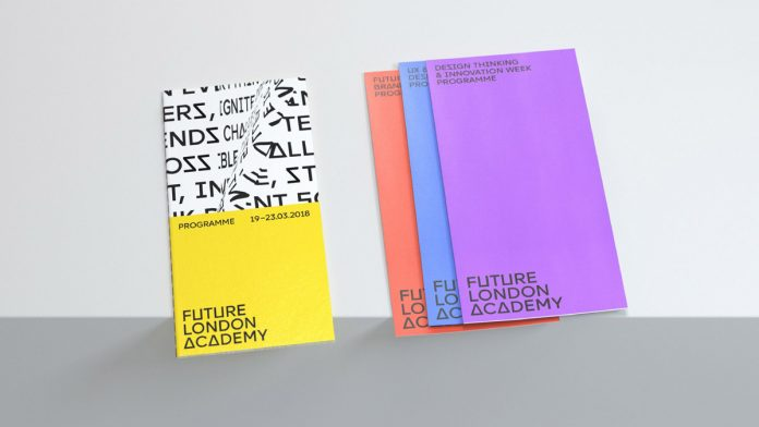 Future London Academy rebranding by ONY agency in collaboration with Michael Wolff and Oliver St John