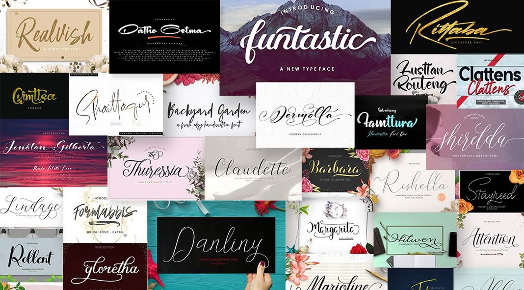 Best Script Fonts from Pixelo