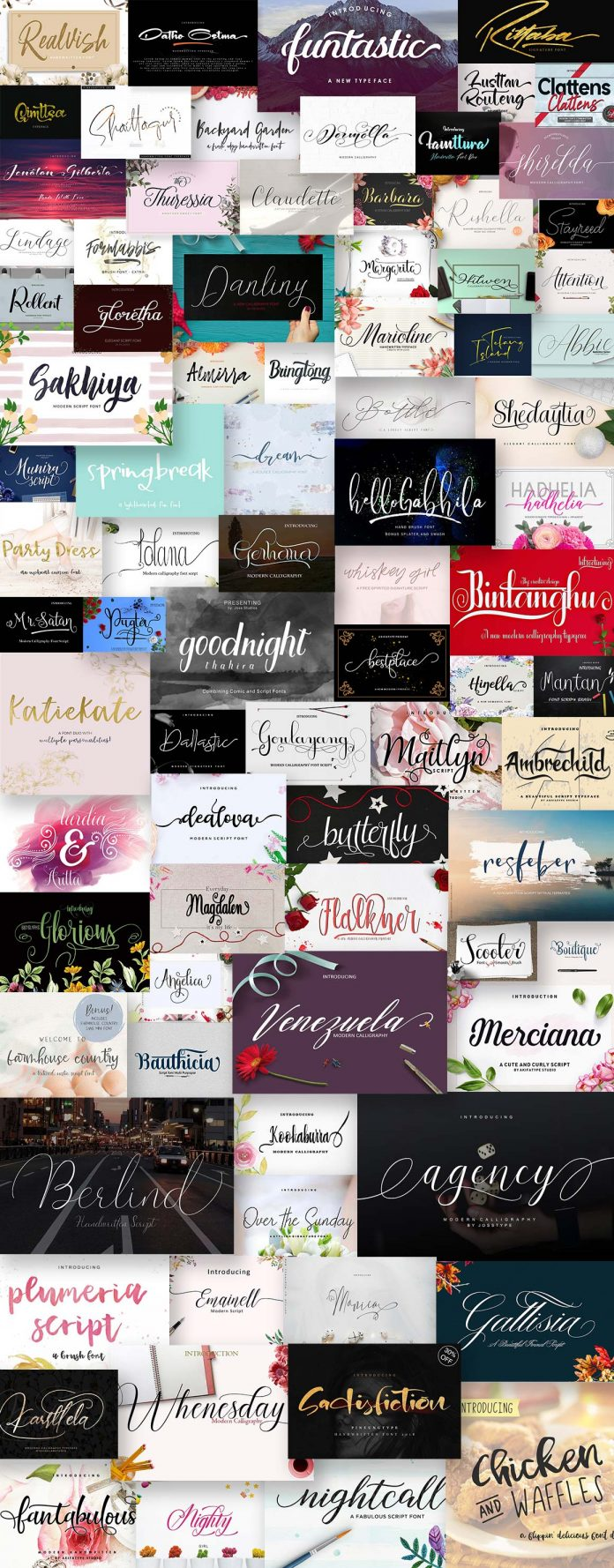Best script fonts on sale.