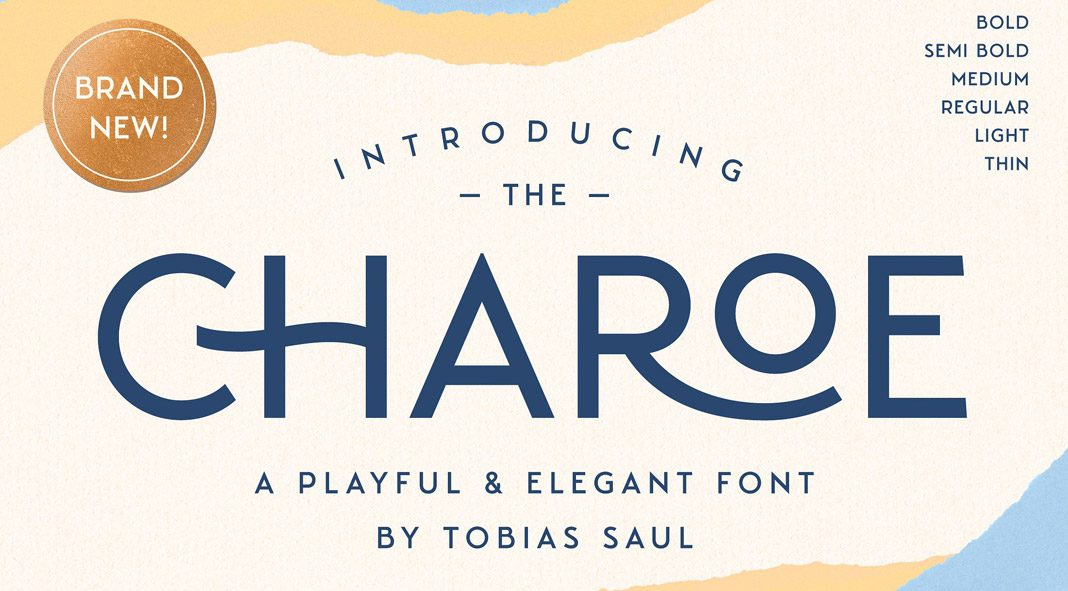Charoe typeface plus extras by Tobias Saul