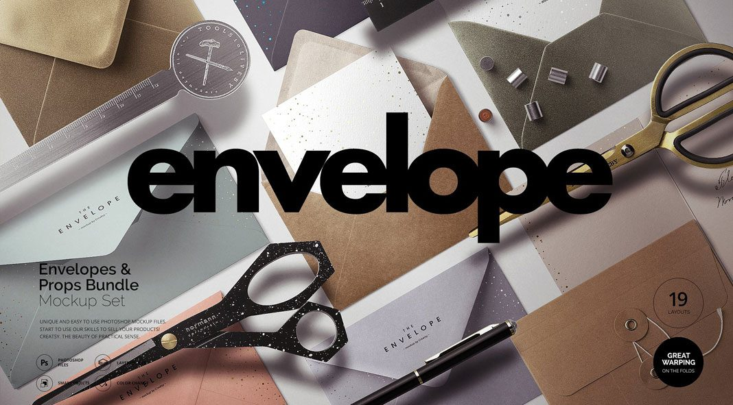 Envelopes mockups from Creatsy 5