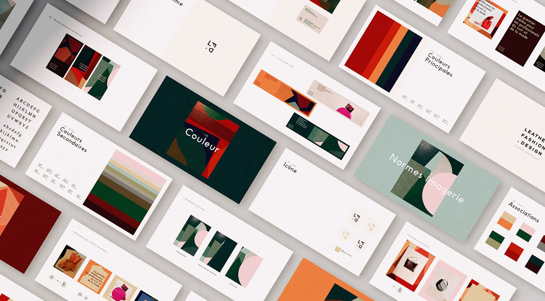 Branding by Atelier Irradié for Leather Fashion Design