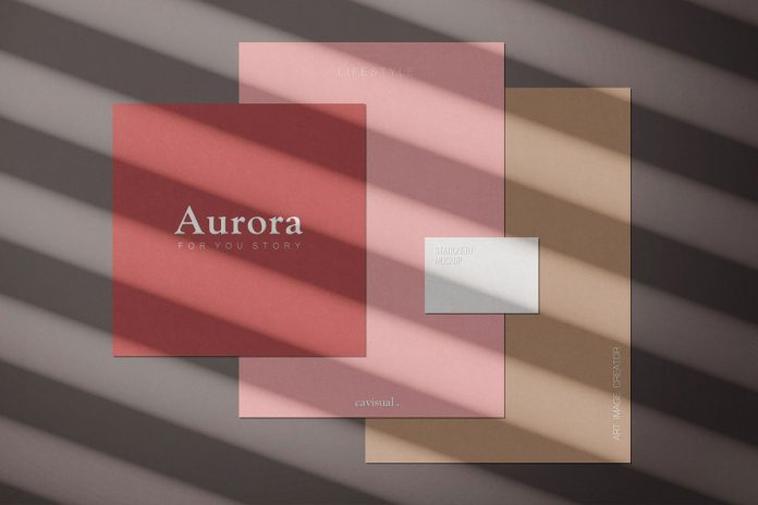 Aurora - mockup kit scene creator from studio Cavisual.