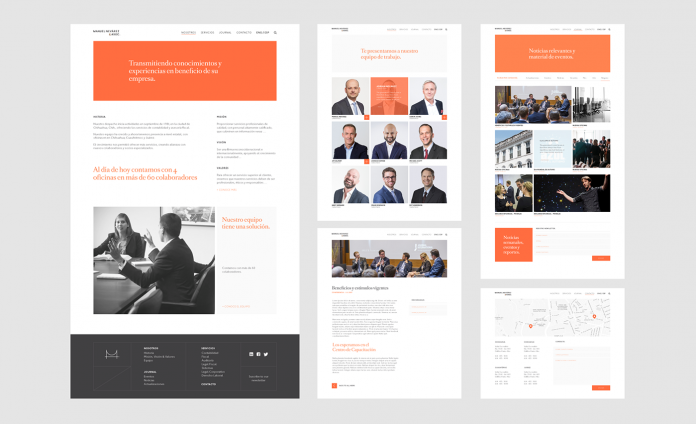 Manuel Nevárez - law and finance firm branding by Firmalt Agency.