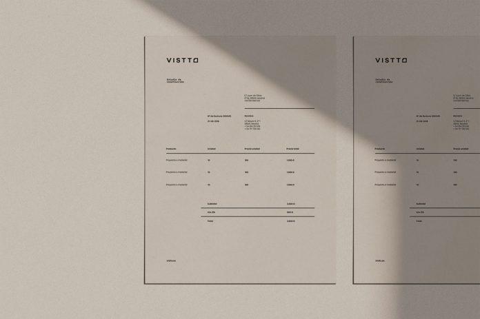 Vistto Building Studio branding by The Woork Company.