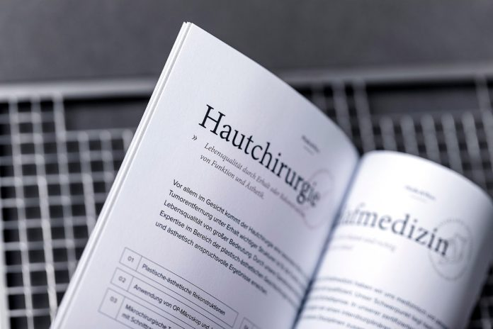 Clinic branding by Hochburg Design for Praxisklinik.