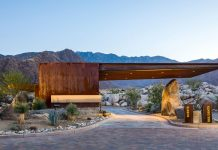 Desert Palisades Guardhouse by Studio AR&D Architects.