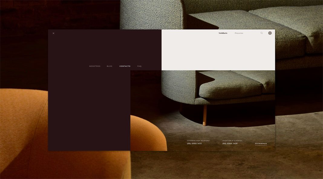 Web design by Daria Po for furniture online shop Diverso.