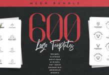 Download 600 logo templates for Adobe Illustrator and Photoshop
