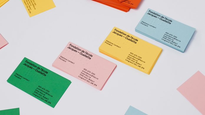 Branding by Simon Langlois for the Jacques-Ouellette School Foundation