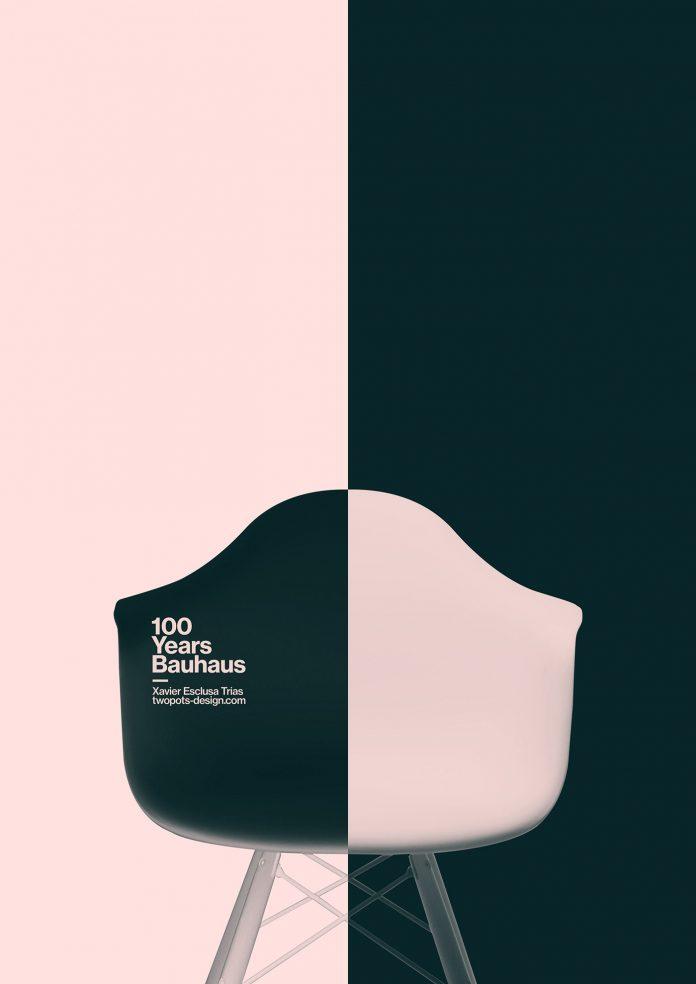 Bauhaus tribute posters by Xavier Esclusa Trias.