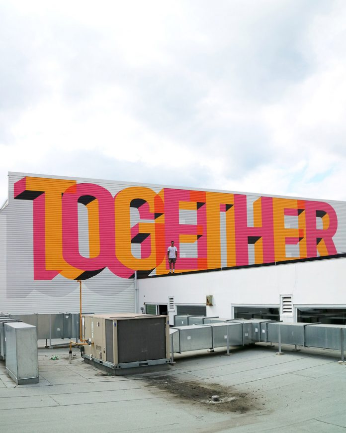 Typographic street art by Ben Johnston