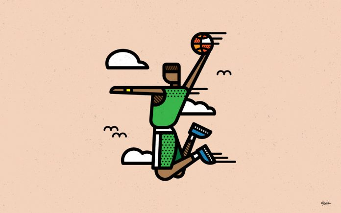 The human form reduced to geometric simplicity by Mike Karolos
