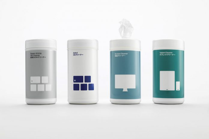 ASKUL brand and packaging design by Stockholm Design Lab.