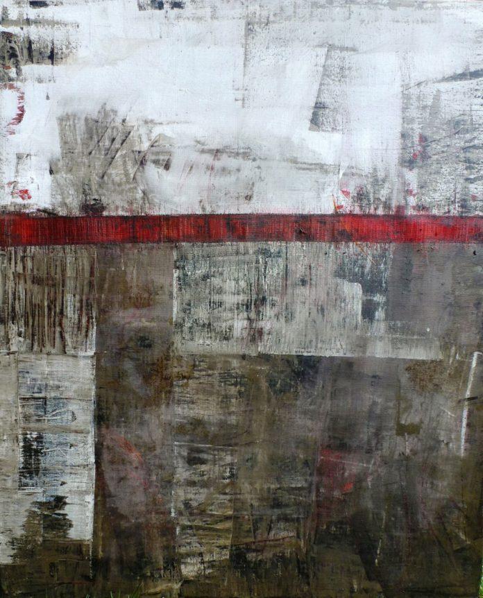 Elisabeth Nagy, Bitumen 1, 90x140cm, oil on canvas