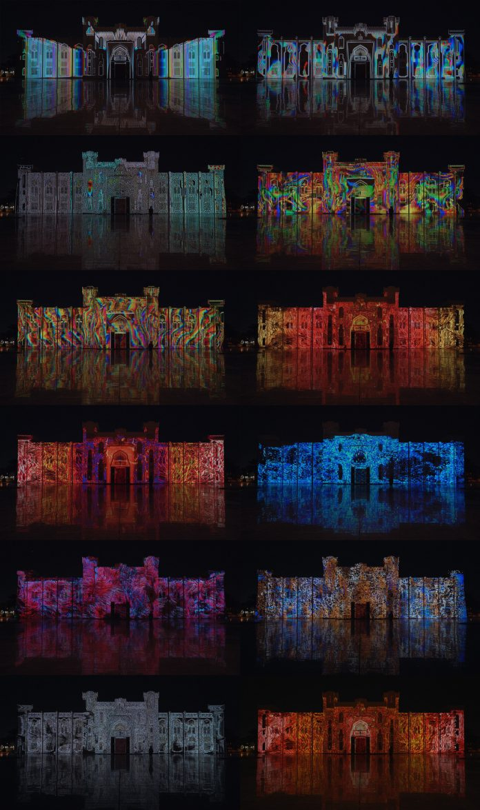 Sharjah Light Festival 2019 – Audiovisual Projection by Filip Roca & Tigrelab