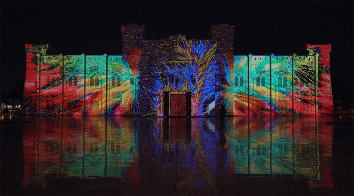 Sharjah Light Festival 2019 - Audiovisual Projection by Filip Roca & Tigrelab