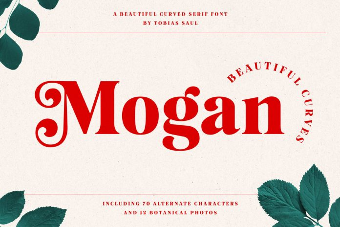 Mogan, a beautifully curved serif font by Tobias Saul.