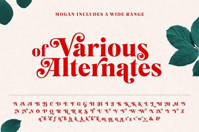 The font includes a wide range of alternates.