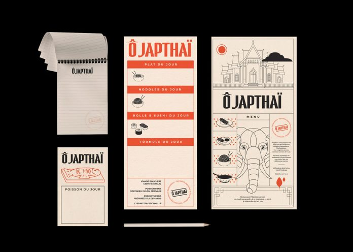 Ô Japthaï restaurant branding by BIS Studio Graphique